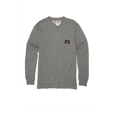 Mens Rasco FR Gray Henley T-Shirt NFPA 2112 certified
