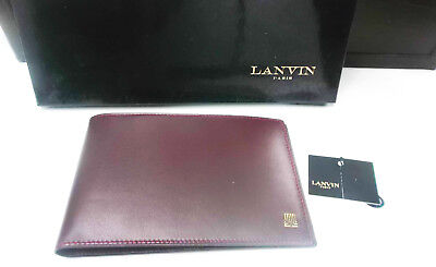 Portafoglio da uomo LANVIN in pelle -Genuine leather wallet men-portfel
