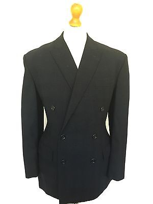 Vintage 1960's Blue Checked  Bespoke Suit Size 40