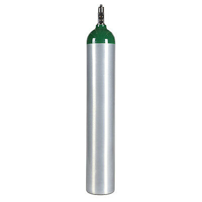 Medical Oxygen Cylinder ME E Size 24 cu ft Aluminum- CGA870 Valve - NEW