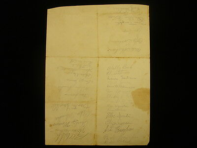 1949 Cleveland Browns & Others Autographed Page - 34 Signatures - JSA