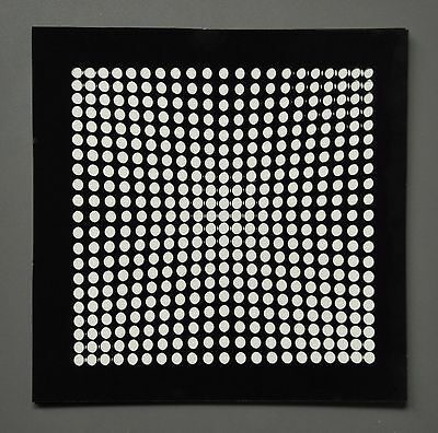 Victor Vasarely OEUVRES PROFONDES CINÉTIQUES VII 1973 Op-Art Print 3-D 3D 27x27