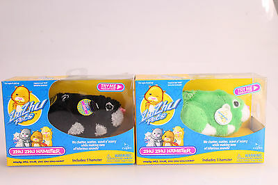 Zhu-Zhu Pets Hamster 2-Pack Dezel and Shamrock Batteries Included New In Box