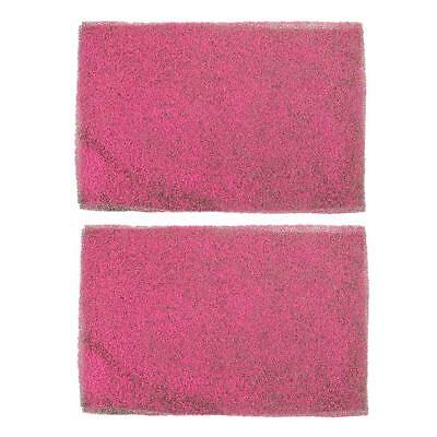 2pc Shocking Pink Grass Mat Lawn Model Railway Scenery Micro Landscape Decor