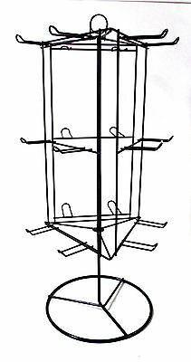 dav Counter Top Metal Wire Store Display Rack Rotating Spinning Table Top Black