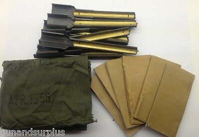 5 COUNT M1 Carbine Repack Kit old style 12 Stripper Clips 30 caliber Bandolier