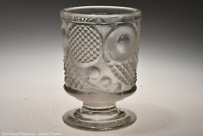c. 1850s HORN OF PLENTY by McKee Bros FLINT CRYSTAL Footed Spill