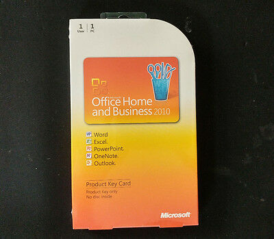 BRAND NEW SEALED Microsoft Office Home and Business 2010 GENUINE NEW