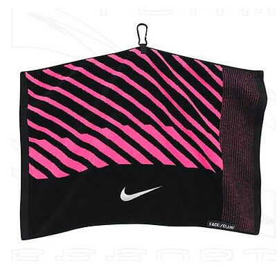 Nike Closeout Face/Club Jacquard Towel - Black/Pink
