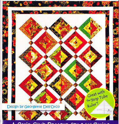 "Double Vision - pieced quilt PATTERN for 2.5"" strips - Cozy Quilts - 5 sizes"