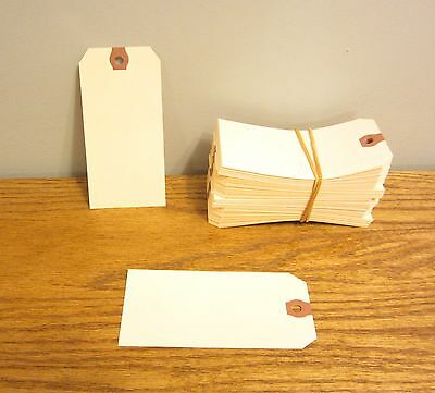 """125 Avery Dennison Manilla #5 Blank Shipping Tags 4 3/4"""" By 2 3/8"""" Scrapbook"""