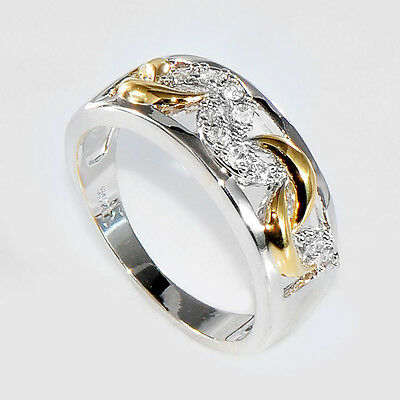 Elegant Wedding Ring Gold Silver Plated Infinity Zircon Women Fashion HOT
