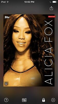 Topps WWE Slam Digital Card Trader Orange Monochrome Alicia Fox Insert
