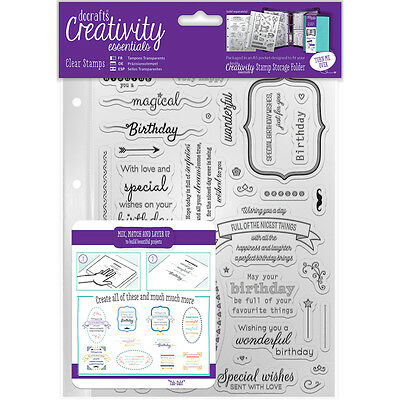 Creativity Essentials A5 Clear Stamps-Birthday Verses