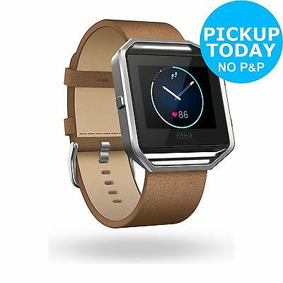 Fitbit Blaze Leather Accessory Band Camel - Small -From the Argos Shop on ebay