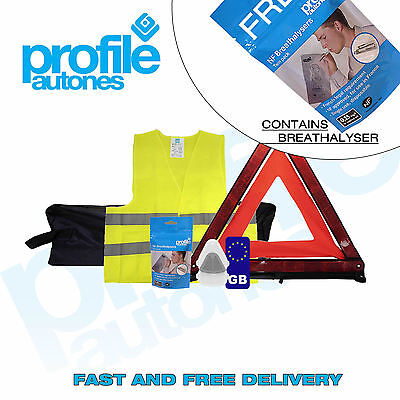 Travel Abroad Euro European Standard Car Driving Kit with France Breathalysers