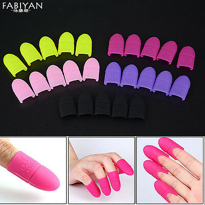 5Pcs Ongle Gel Polish Remover Wrap Silicone Tremper Capuchon Clip Manucure Nail