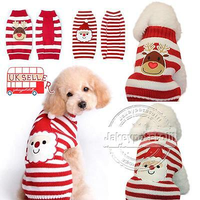 Pet Dog Warm Jumper Sweater Xmas Clothing Puppy Cat Kintwear Costume Coat Lovely