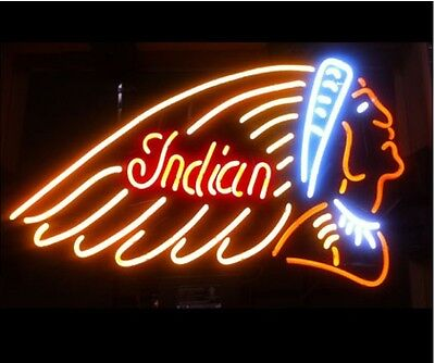 "New Indian Motorcycle Gasoline neon sign 20""x16"" Free Shipping"