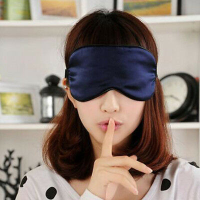 New Comfortable Silk Sleep Rest Eye Mask Shade Cover Travel Relax Aid Blindfolds