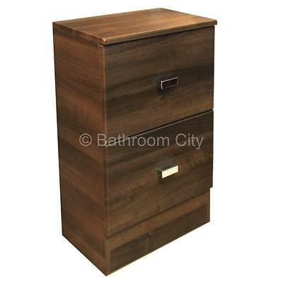 PASHA BATHROOM FITTED FURNITURE 500mm WALNUT FINISH DRAWER CABINET CUPBOARD UNIT