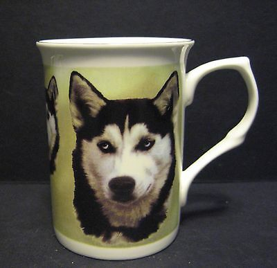 Siberian Husky Dog Fine Bone China Mug Cup Beaker