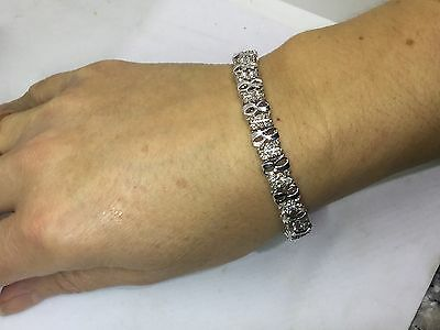 BEAUTIFUL 2 CARAT DIAMOND BRACELET  10k White Gold