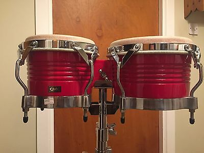 Bongos with stand & carry bag