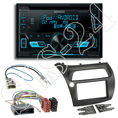 Honda Civic VIII FK1 FK2 R S ab06 Blende+ISO Adapter+Kenwood DPX3000U Radio SET
