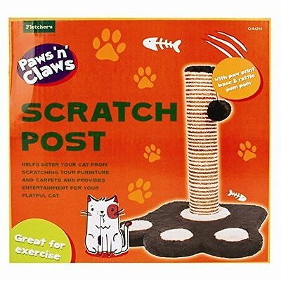 Feet Shape Cat Scratching Post Pole Activity Centre Play Toy Climbing Sisal