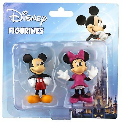 Mickey & Minnie Mouse Party Figures Figurines Cake Topper Decorations Set Of 2
