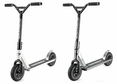 Osprey Dirt Scooter with All Terrain Off Road Chunky Tyres - White or Grey