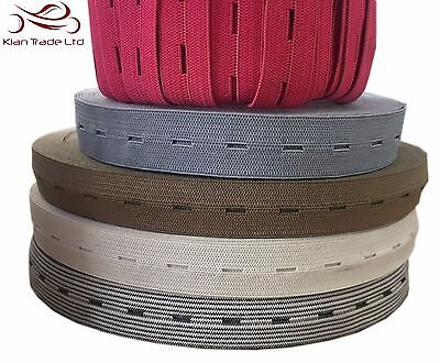 """20mm 3//4/"""" PARROT Button hole Buttonhole Elastic Woven Waistband Notion sewing"""