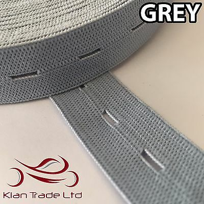 WHITE 19MM BUTTON HOLE KNIT ELASTIC WOVEN TAPE WAISTBANDS KNIT TROUSER 3//4/""