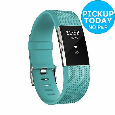Fitbit Charge 2 HR + Fitness Band Teal - Large