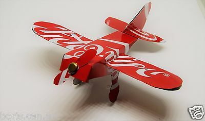 COCA COLA handcraft Plane Airplane REAL Recycled Aluminum Soda can art Origami