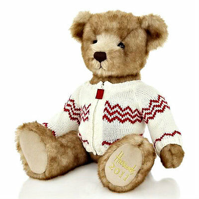 "Harrods Of London 2011 Freddie Christmas Bear  13"" inch limited edition"