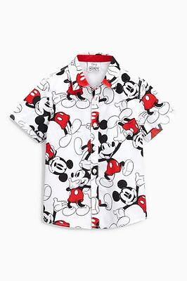 Next Disney Baby Boys Mickey Mouse Shirt, White, Sizes From 3-24 Months