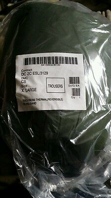 NEW in Packet British Army Softie Cold Weather Thermal Trousers Reversible Large