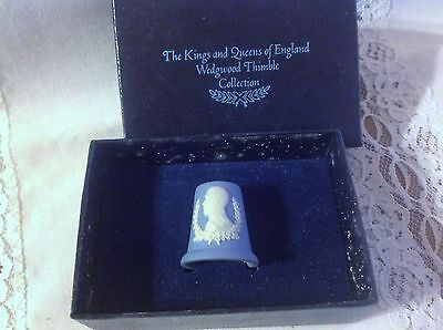 Wedgwood Thimble King & Queens of England George V in Box