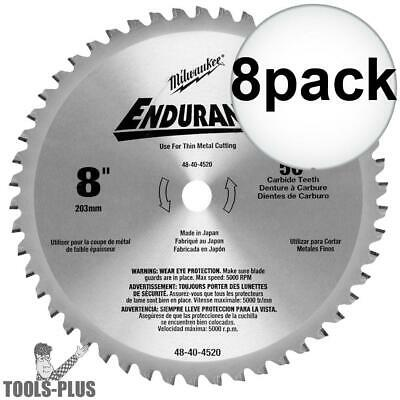 "8pk 8"" x 50T Circular Saw Blade Milwaukee 48-40-4520 New"