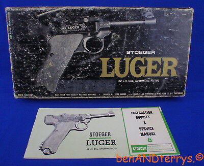 Stoeger Luger Factory Issued 2-Piece Cardboard Box & Manual