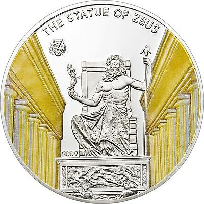 Palau 2009 $5 Antique 7 World of Wonders Statue of Zeus Proof Silver Coin
