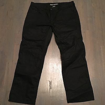 Icon 1000 Royal Drive Motorcycle Riding Pants D3O Knee Armor Black Waxed Canvas