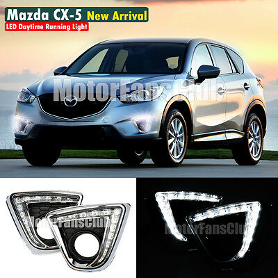 LED Daytime Running Light For Mazda CX-5 Fog Lamp DRL 2012 2013 2014 2015
