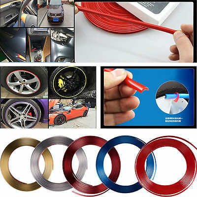 Car Tuning Trend Vehicle Wheel Rim Protector Tire Guard Line Rubber Moulding