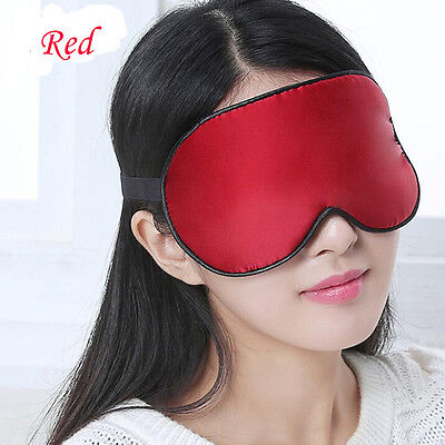 Eye Mask Sleep Blindfold Cover Travel Relax for Rest Aid Soft Padded Pure Silk