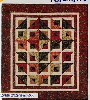 Radiant - pieced quilt PATTERN for fat quarters - Cozy Quilts - 5 sizes