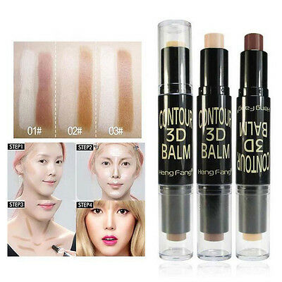 Beauté 3D Maquillage Poudre Visage Contour Kit Bronzer Highlighter Stick Palette