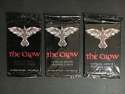 """""""the Crow"""" 1994 Trading Card Packs X 3 Unopened"""